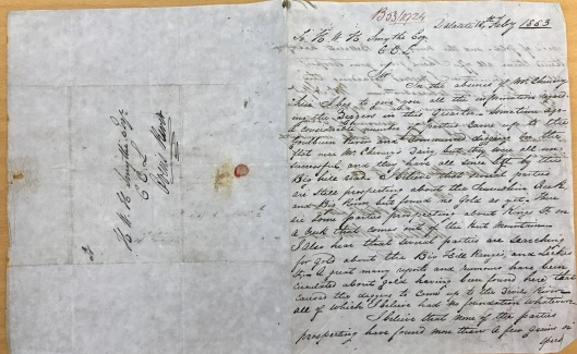 Beechworth_goldrush_letter_1853