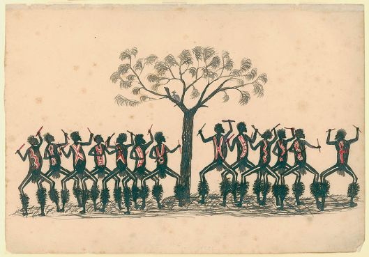 SLNSW_799106_6_Corroboree_pen_and_ink_drawing_by_Tommy_Mcrae